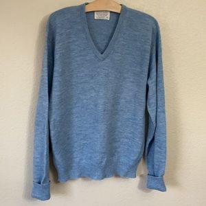 Vintage Lord Jeff v neck sweater acrylic wool